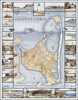 Around and About CHAPPAQUIDDICK Island Map Print